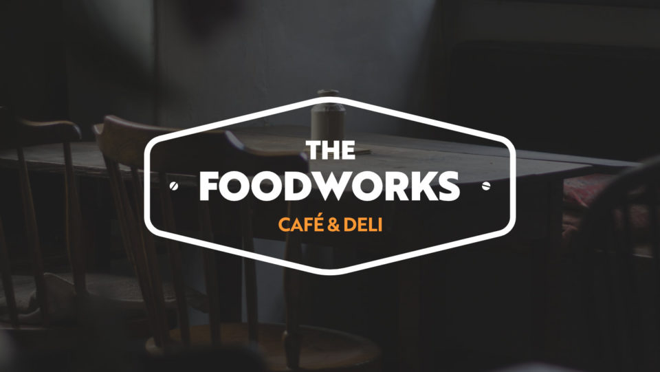 The final The Foodworks logo on a darker background